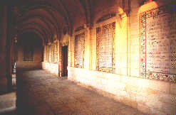 cloistered wall of of Lord's Prayer
